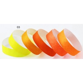 Pulsera TYVEK 1 Pulgada color Amarillo