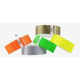 Pulsera TYVEK 1 Pulgada color Naranja NEON