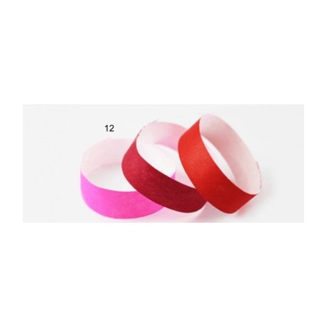 Pulsera TYVEK 1 Pulgada color Rosa NEON