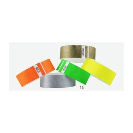 Pulsera TYVEK 1 Pulgada color Verde NEON